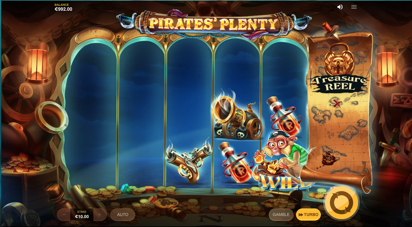 Play The Free Slot Pirates Treasure Hunt With No Signup